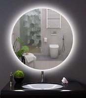 Фото Mirror Rika Круглое зеркало с подсветой ореол в ванную комнату 60x60