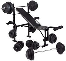 Фото Trex Sport 055 скамья + штанга Strong 128 кг