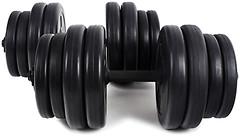 Фото RN Sport Гантели битумные 2x16 кг (BD-16)