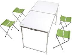 Кемпинг Стол + 4 стула (XN-12064)