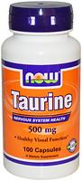 Фото Now Foods Taurine 500 mg 100 капсул