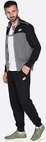 Фото Lotto спортивный костюм Mason IV Suit Rib JS Graphite Melange/Black (S6901)