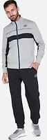 Фото Lotto спортивный костюм Mason V Suit Rib Bs FL Gryphon Gray ML/Black (S8757)