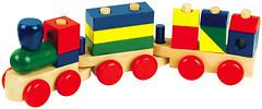 Фото Мир деревянных игрушек Конструктор-паровозик (Д018)