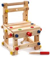 Мир деревянных игрушек Конструктор Стул малый (Д053)