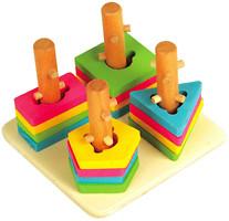 Мир деревянных игрушек Логический квадрат малый (Д105)
