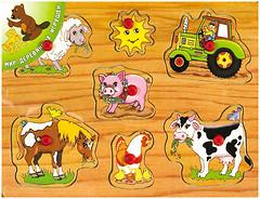 Мир деревянных игрушек Домашние животные (Р12)