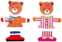 Фото Мир деревянных игрушек Медвежонок Катя (Д181а)