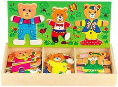 Фото Мир деревянных игрушек Набор медвежат 3 (Д164)