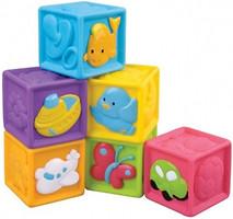 Фото RedBox Мягкие кубики с животными 6 шт. (23305)