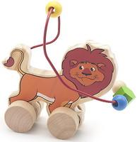 Фото Мир деревянных игрушек Лабиринт-каталка Лев (Д359)