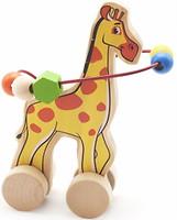 Фото Мир деревянных игрушек Лабиринт-каталка Жираф (Д358)