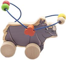 Фото Мир деревянных игрушек Лабиринт-каталка Носорог (Д365)