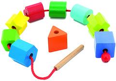 Фото Мир деревянных игрушек Бусы Геометрия (Д389)