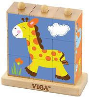Фото Viga Toys Кубики на логику Животные (50834)