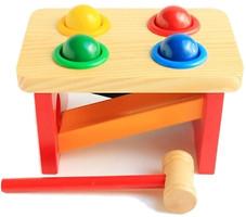 Мир деревянных игрушек Стучалка-горка Шарики (Д142)