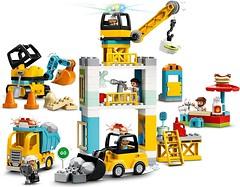 Фото LEGO Duplo Башенный кран на стройке (10933)