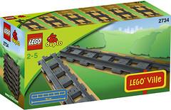 Фото LEGO Duplo Прямые рельсы (2734)
