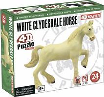 Фото 4D Master Белый конь-тяжеловоз (26529)