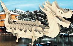 Фото Мир деревянных игрушек Лодка Дракона (П085а)