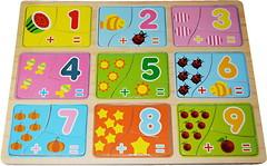 Фото Мир деревянных игрушек Веселая арифметика (Р123)