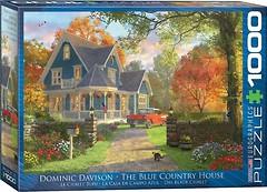 Фото Eurographic Голубой загородный дом Доминик Дэвисон (6000-0978)