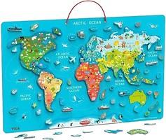 Фото Viga Toys Карта мира с маркерной доской (44508)