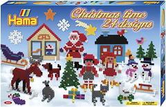 Фото Hama mosaic Термомозаика Рождественские узоры (3034)