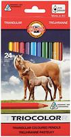 Фото Koh-i-Noor Triocolor Цветные карандаши Jumbo Horses (3144)