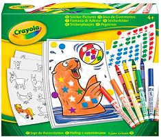 Фото Crayola Набор для творчества с наклейками и фломастерами (04-6801)