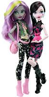Фото Monster High Дракулаура и Моаника серии Добро пожаловать в школу Монстров (DNY33)