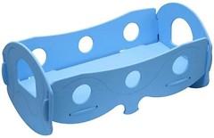 Фото ЧудиСам Кроватка для кукол голубая с бельём (K055Б)
