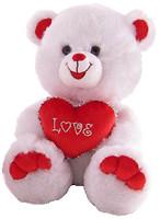 Lava Медведь белый с красным сердцем (LF284C)