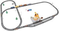 Фото Maya Toys железная дорога с подъёмным краном (2082)
