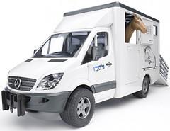 Фото Bruder (1:16) транспортер для животных Mercedes-Benz Sprinter (02533)