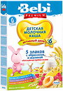 Фото Bebi Premium Каша молочная 5 злаков с малиной, абрикосом и пребиотиками 200 г