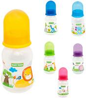 Фото Baby Team Бутылочка с талией и силиконовой соской 125 мл (1111)