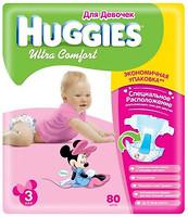 Фото Huggies Ultra Comfort 3 для девочек (80 шт)