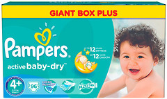 Pampers Active Baby Maxi Plus 4+ (96 шт)
