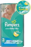 Фото Pampers Active Baby-Dry Midi 3 (58 шт)