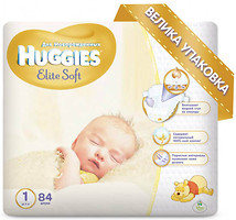 Фото Huggies Elite Soft 1 (84 шт)