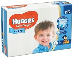 Фото Huggies Ultra Comfort 5 для мальчиков (42 шт)