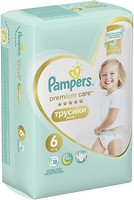 Фото Pampers Pants Premium Care Extra Large 6 (18 шт)