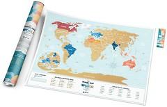 Фото 1dea.me Скретч-карта мира Travel Map Holiday Lagoon World (HLW/4820191130524)