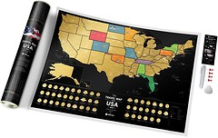 Фото 1dea.me Скретч-карта США Travel Map of the USA Black (USAB)