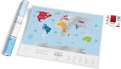 Фото 1dea.me Скретч-карта мира Travel Map Silver World (SW)