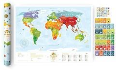 Фото 1dea.me Скретч-карта мира для детей Travel Map Kids Sights (KS)