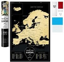 Фото 1dea.me Скретч-карта Европы Travel Map Black Europe