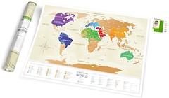 Фото 1dea.me Скретч-карта мира Travel Map Gold World Ukr