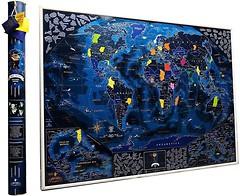 Фото My Map Скретч-карта мира Discovery edition English в тубусе